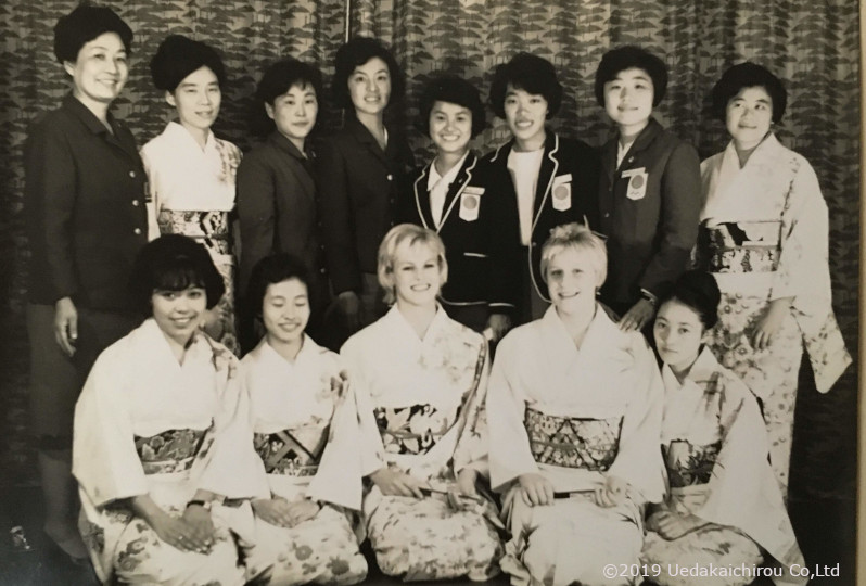 1964東京オリンピック女子選手村の着付け会