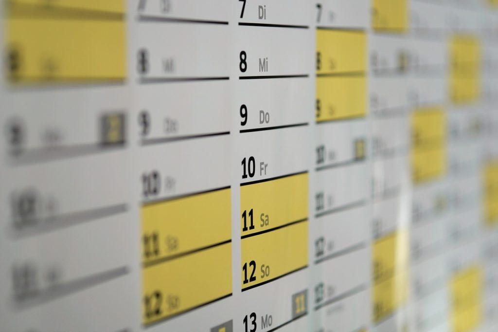 上田嘉一朗商店営業カレンダー