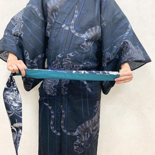 浴衣の着付け:帯の結び方STEP1