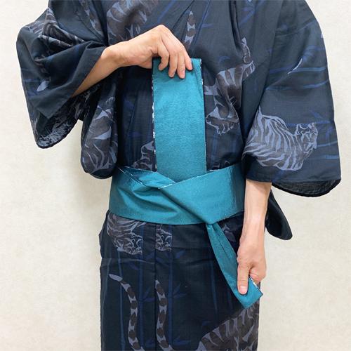 浴衣の着付け:帯の結び方STEP3