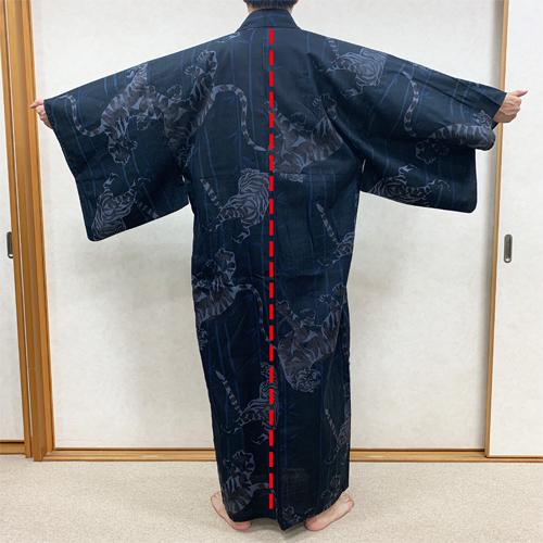 浴衣の着付け方男性編STEP2