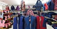 綿入りはんてん(半纏)・キルティングはんてん・やっこ・ちゃんちゃんこ(ポンチョ)、子供から大人までのフロア 日本橋横山町 上田嘉一朗商店