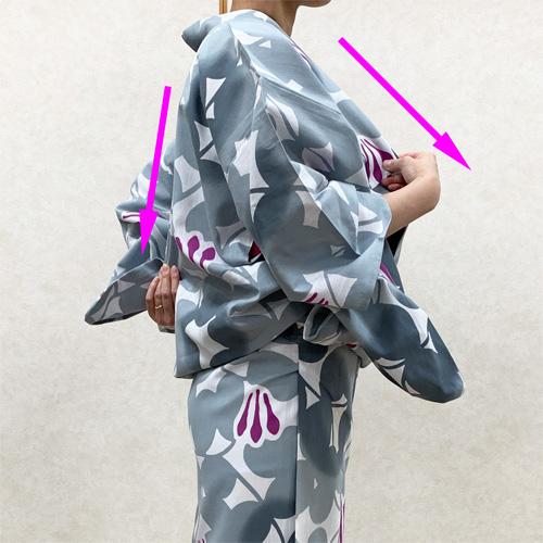 浴衣の着付け方女性編STEP9
